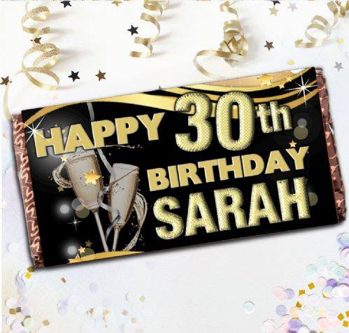 Personalised Milk Chocolate Bar - Happy Birthday Gift N73